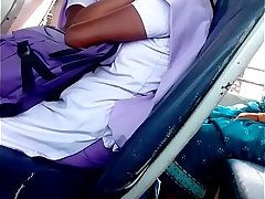 Madurai college girl lifting her chudi in bus